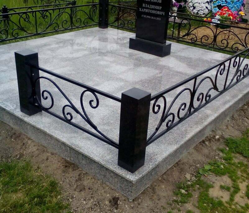 Гранитная плитка на могилку