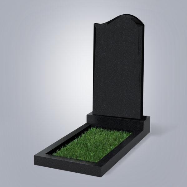 Памятник гранитный форма №14 Черный габбро