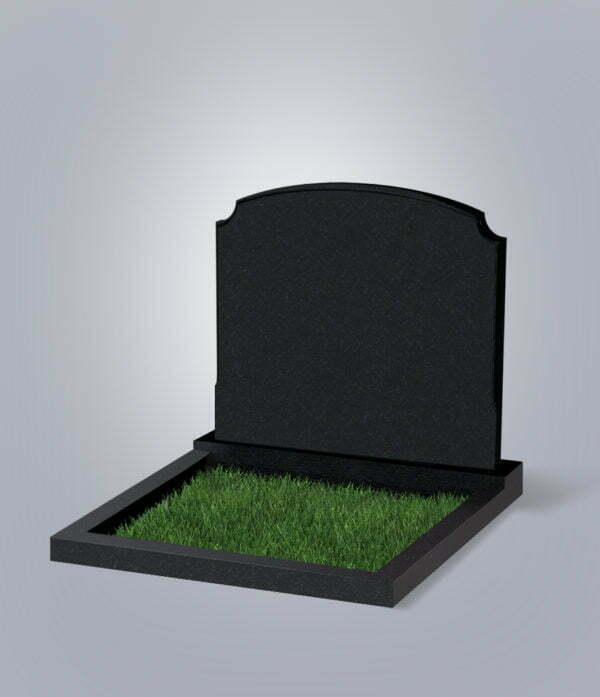 Памятник гранитный форма №17 семейный черный габбро