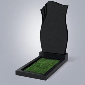 Памятник гранитный форма №20 Черный габбро