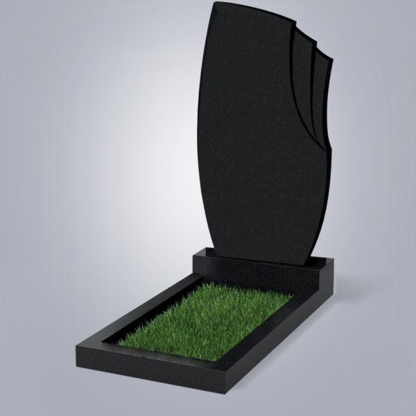 Памятник гранитный форма №26 Черный габбро
