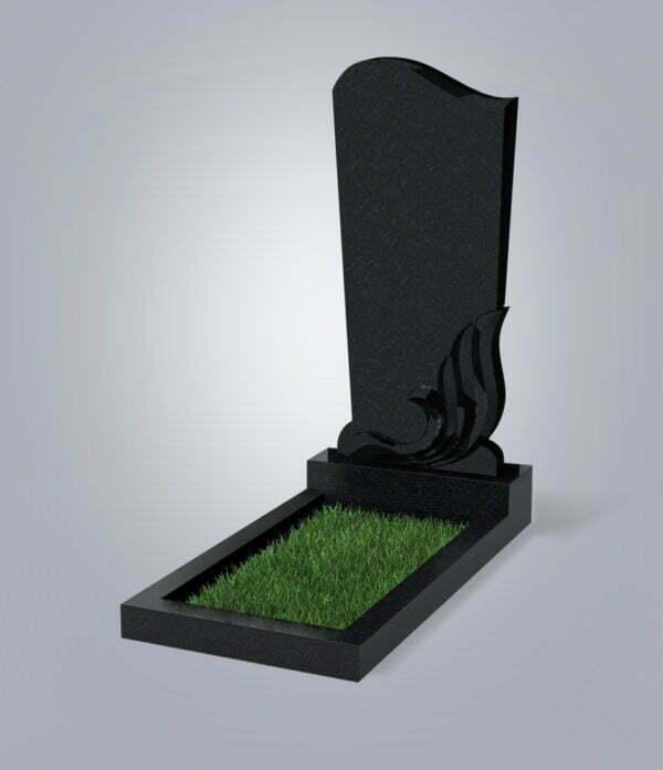 Памятник гранитный форма №33 Черный габбро