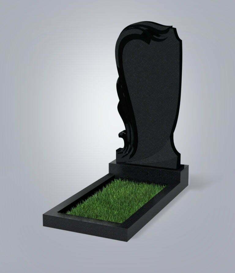 Памятник гранитный форма №38 Черный габбро