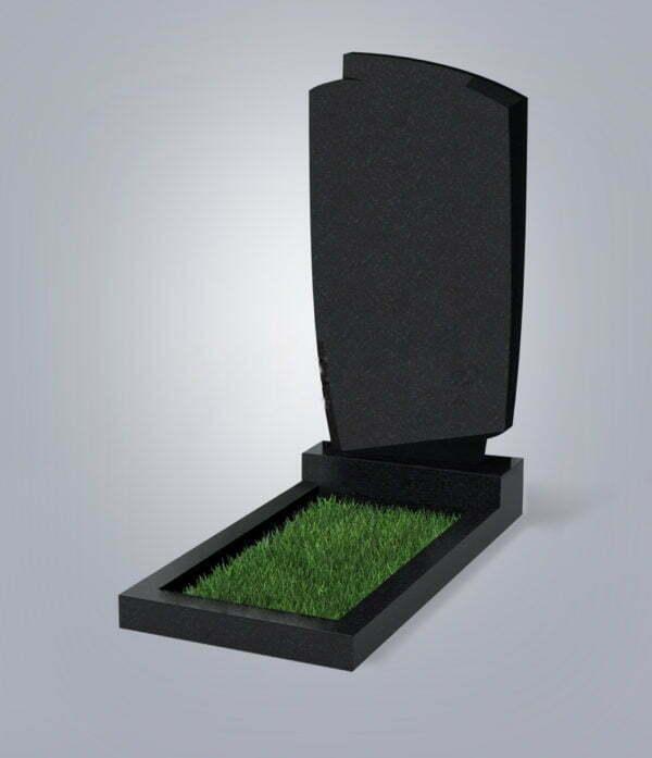 Памятник гранитный форма №39 Черный габбро