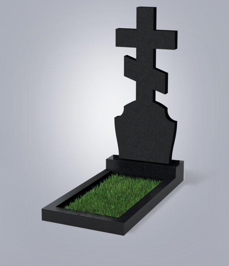 Памятник грантиный форма №40 Черный габбро