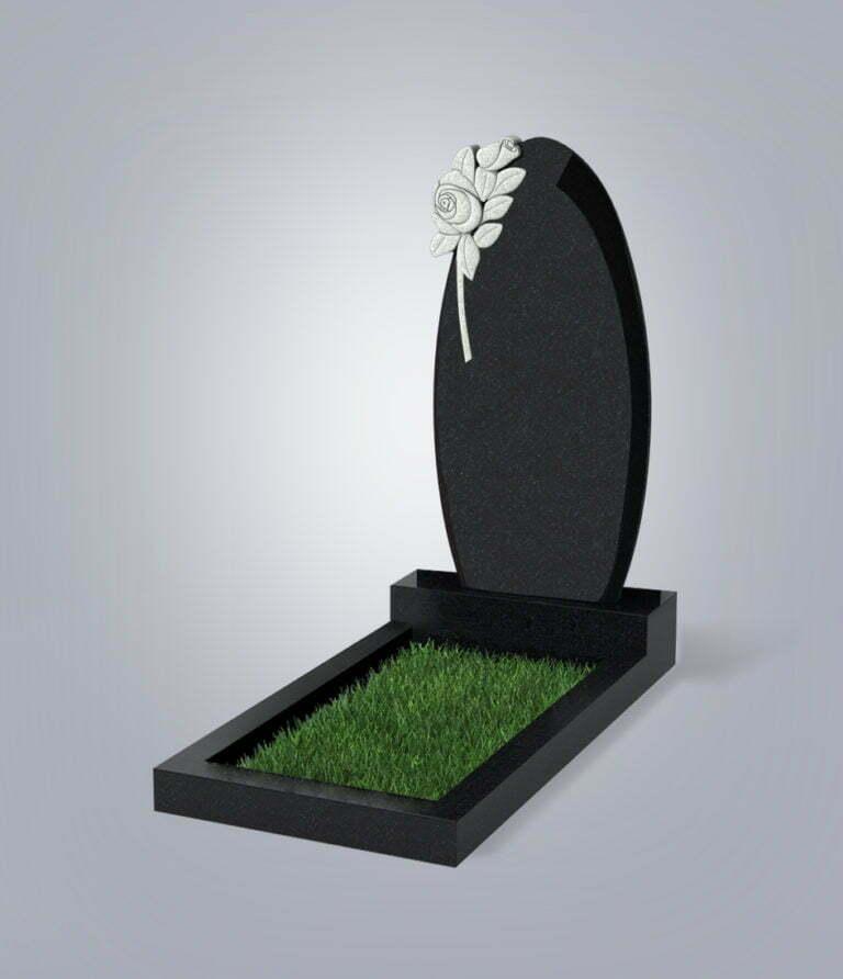 Памятник гранитный форма №61 Черный габбро