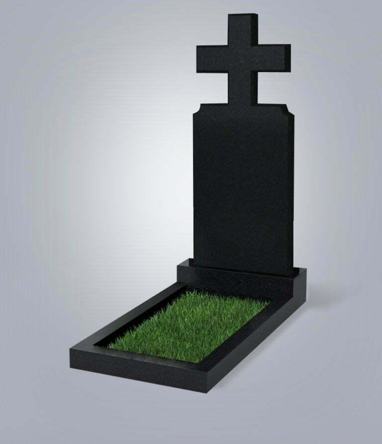 Памятник гранитный форма №100 Черный габбро