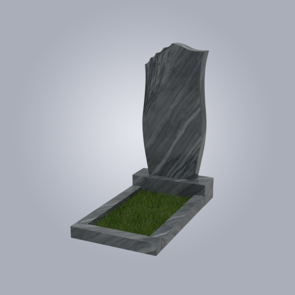 Памятник мрамрный форма №20 Уфалейский розовый