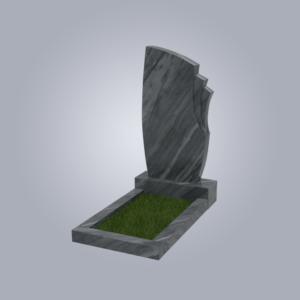 Памятник мрамрный форма №26 Уфалейский серый
