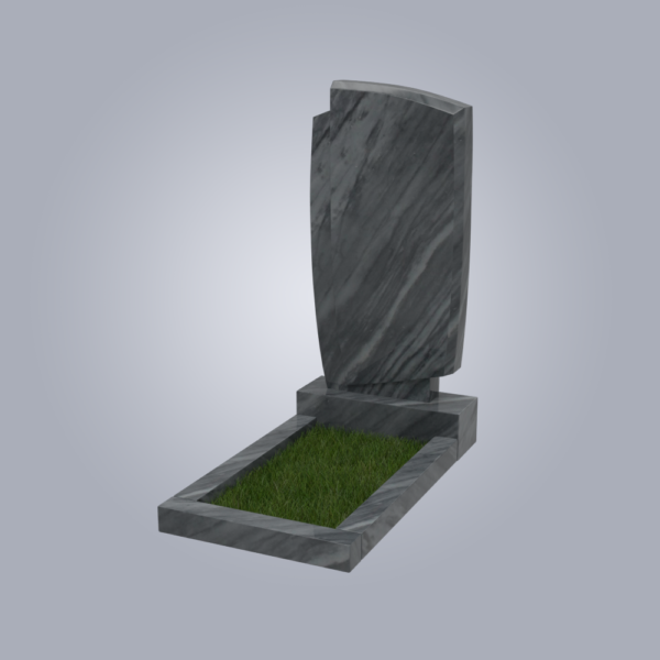 Памятник мраморный форма №39 Уфалейский серый