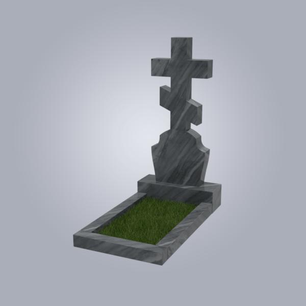 Памятник мрамрный форма №40 Уфалейский серый