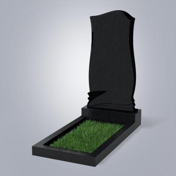 Памятник гранитный форма №48 Черный габбро