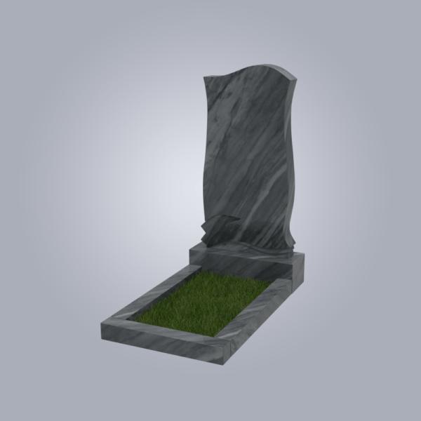 Памятник мрамрный форма №48 Уфалейский серый