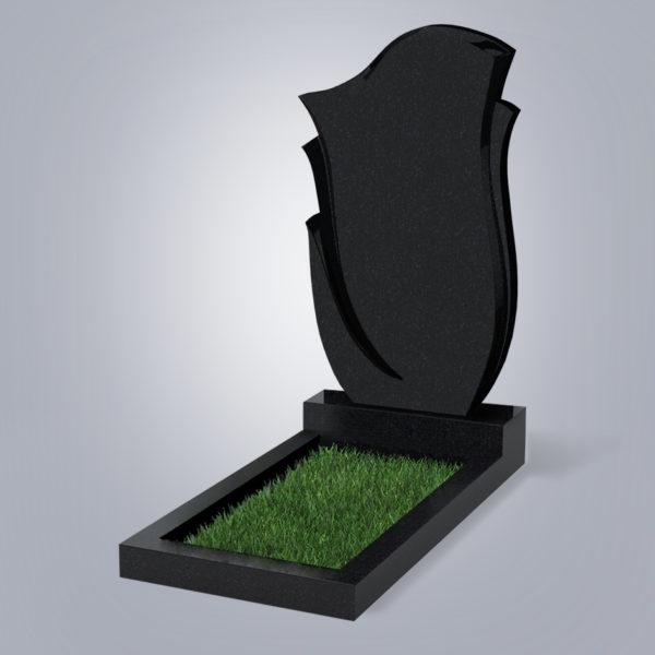 Памятник гранитный форма №55 Черный габбро