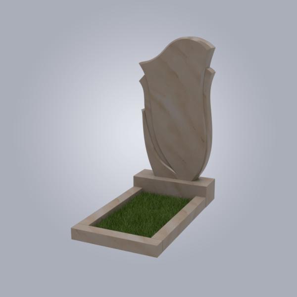 Памятник мраморный форма №55 Саянский розовый