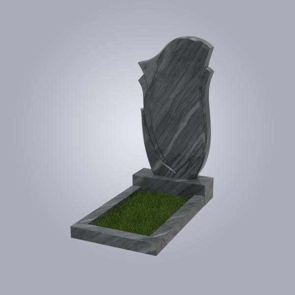 Памятник мраморный форма №55 Уфалейский серый