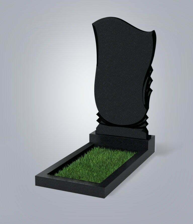 Памятник гранитный форма №56 Черный габбро