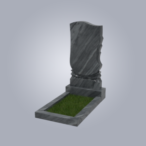 Памятник мраморный форма №56 Уфалейский серый