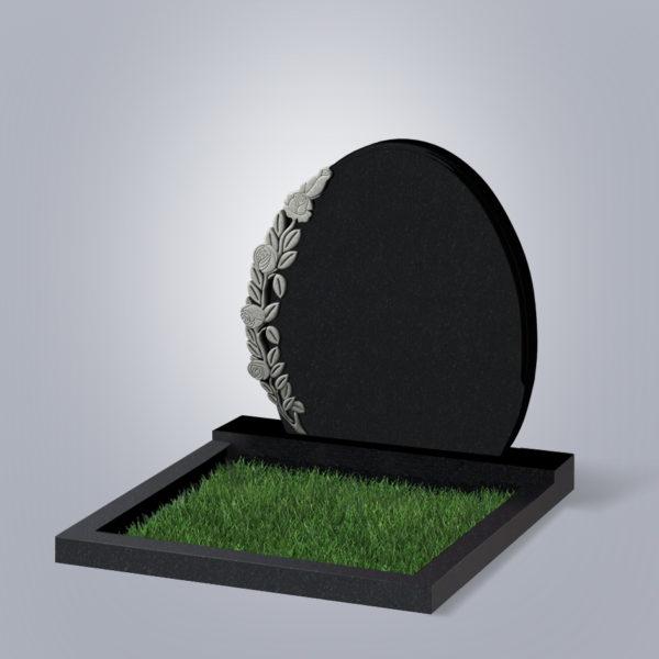 Памятник гранитный форма №63 Черный габбро