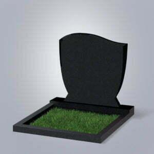 Памятник гранитный форма №65 Черный габбро