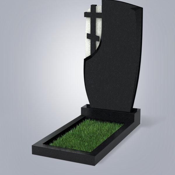 Памятник гранитный форма №75 Черный габбро