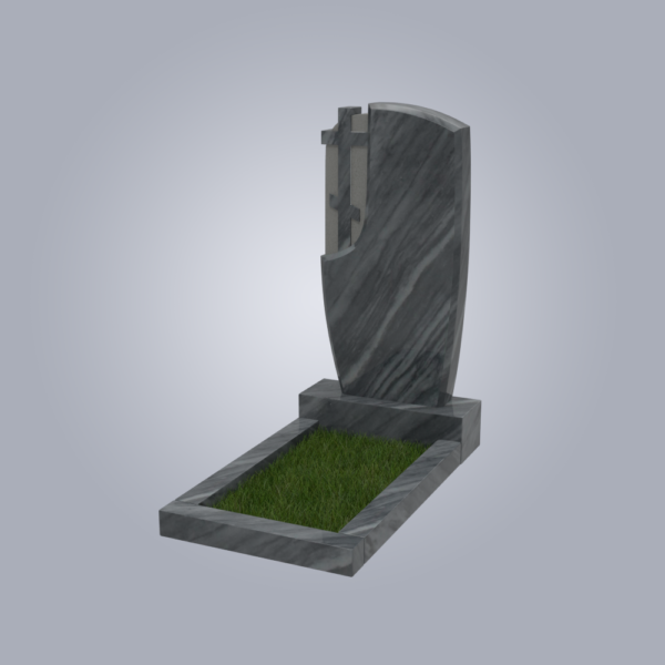 Памятник мраморный форма №75 Уфалейский серый