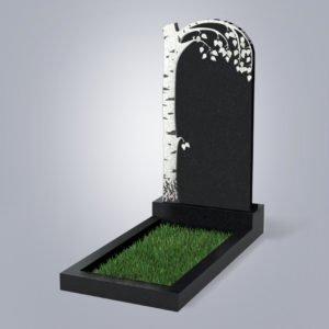 Памятник гранитный форма №84 Черный габбро