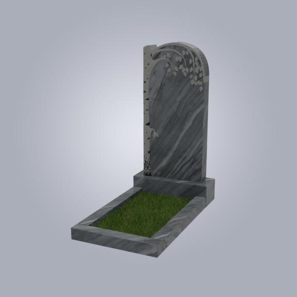 Памятник мраморный форма №84 Уфалейский серый