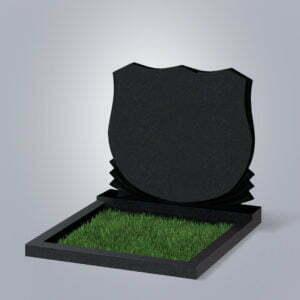 Памятник гранитный форма №86 Черный габбро