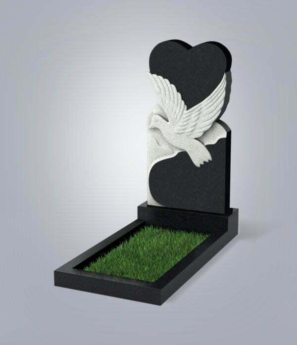 Памятник гранитный форма №91 Черный габбро