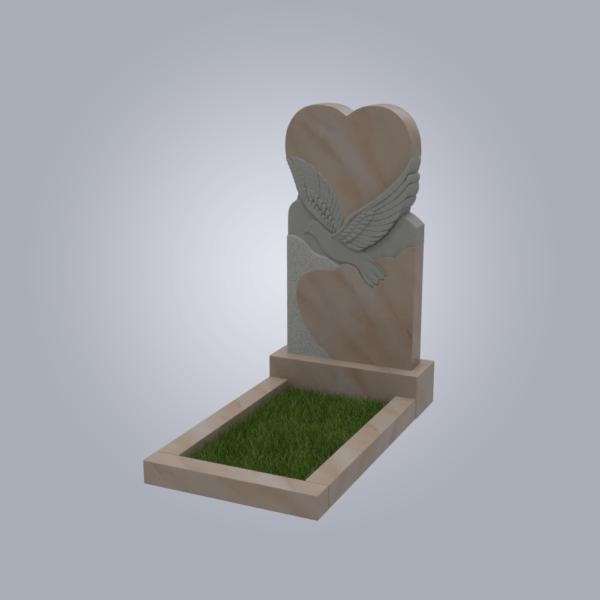 Памятник мраморный форма №91 Саянский розовый