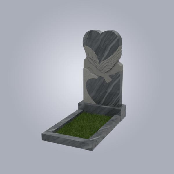 Памятник мраморный форма №91 Уфалейский серый