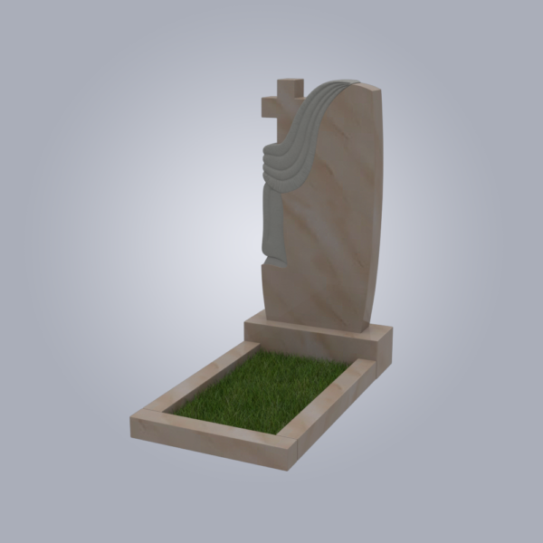 Памятник мраморный форма №94 Саянский розовый