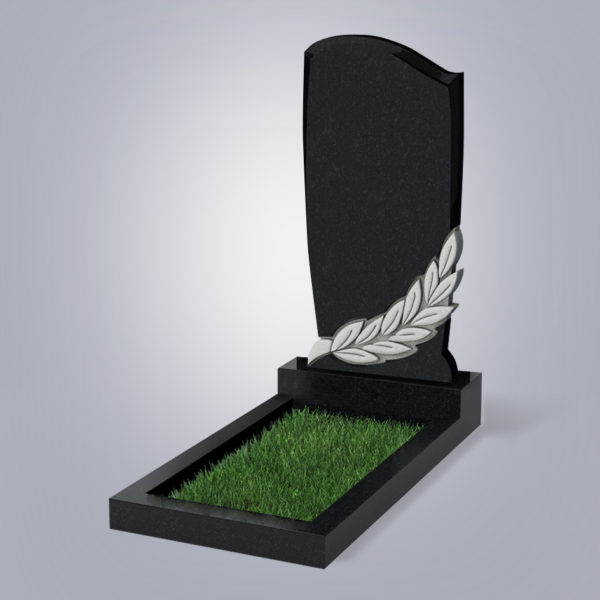 Памятник гранитный форма №96 Черный габбро