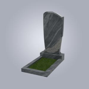 Памятник мраморный форма №96 Уфалейский серый