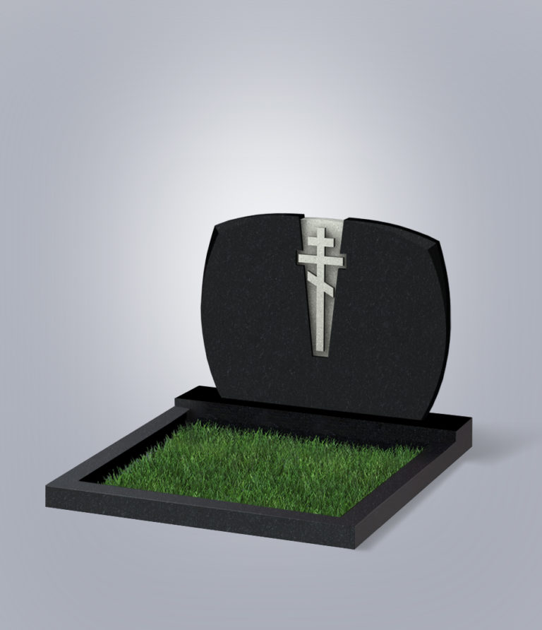 Памятник гранитный форма №97 Черный габбро