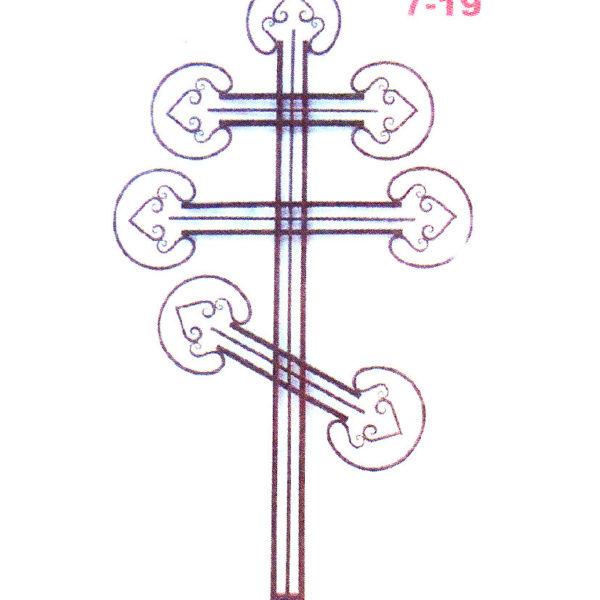 Крест металлический №7-19