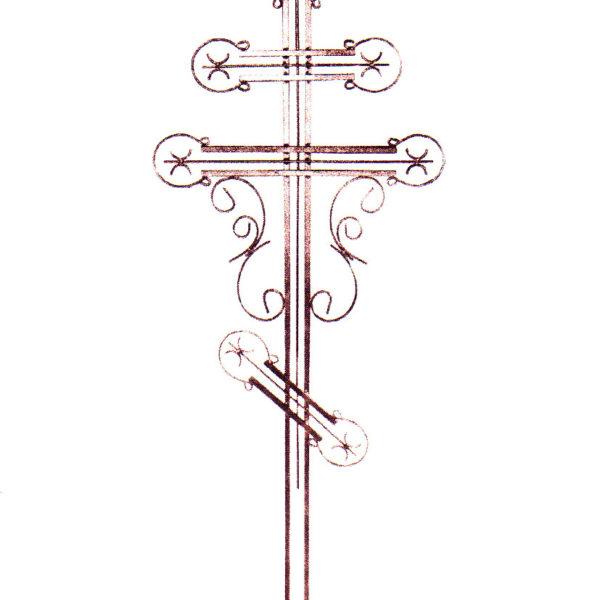 Крест металлический №7-24а