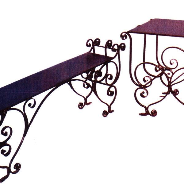 Скамейка+столик №7-25