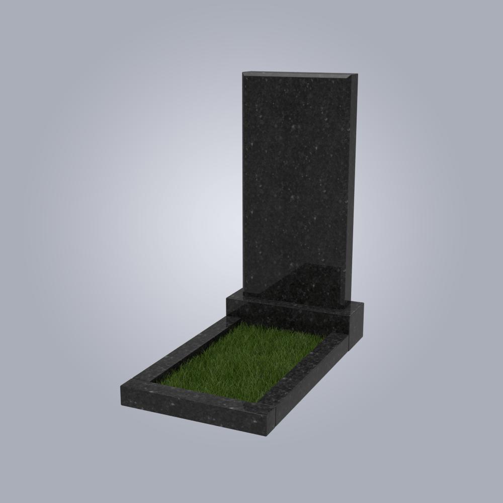 Памятник гранитный №1 черный габбро