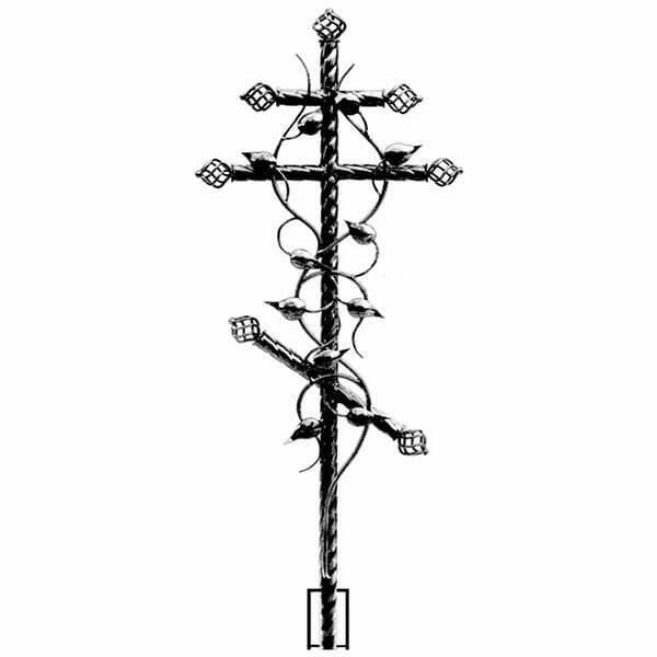 Крест №5 с ковкой
