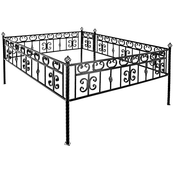 Оградка ритуальная тип 13