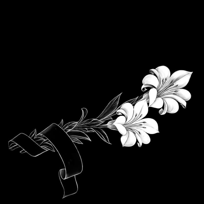 оформление памятника лилии