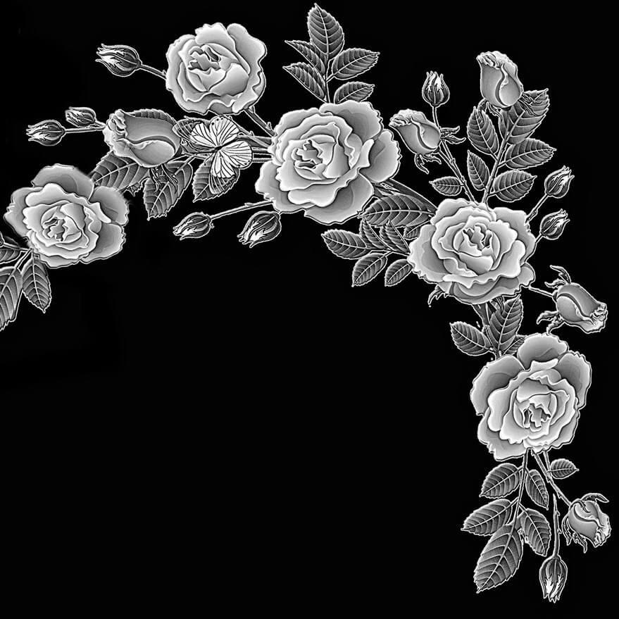 оформление памятника розы